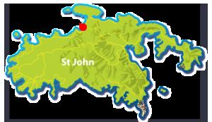 Maho Bay Beach, St John map