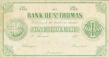 St Thomas, USVI one dollar