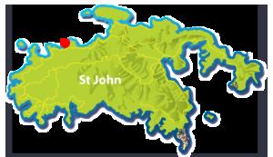Trunk Bay, St John mini map
